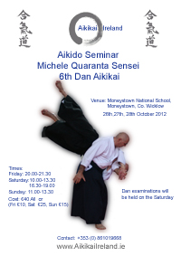 Michele Quaranta Sensei October 2012